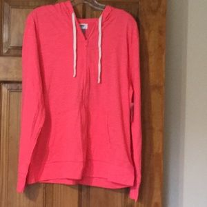 NWT Old Navy lightweight hoodie in coral. XL